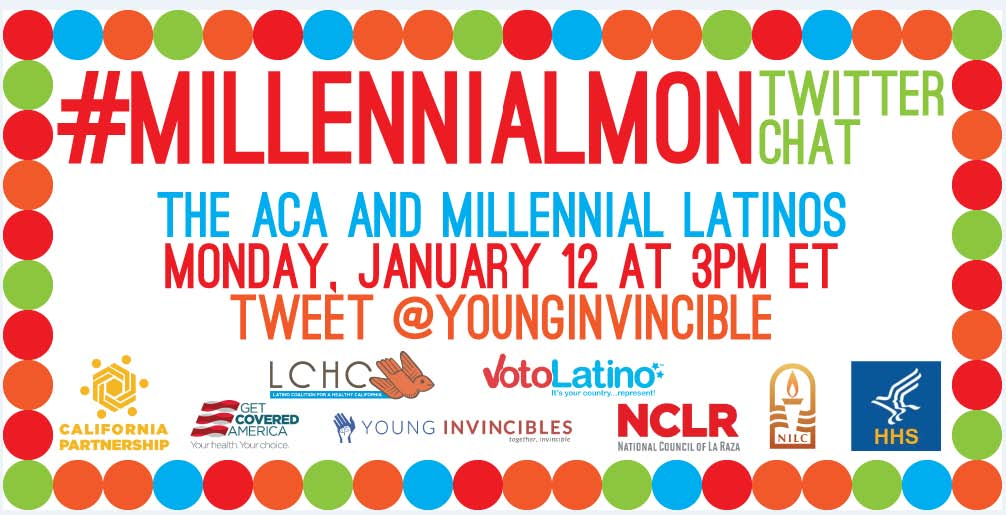 Join TODAY for #MillennialMon at 3PM ET with @YoungInvincible to talk #Latinos and #Health ! http://t.co/bCQhLyYKLz