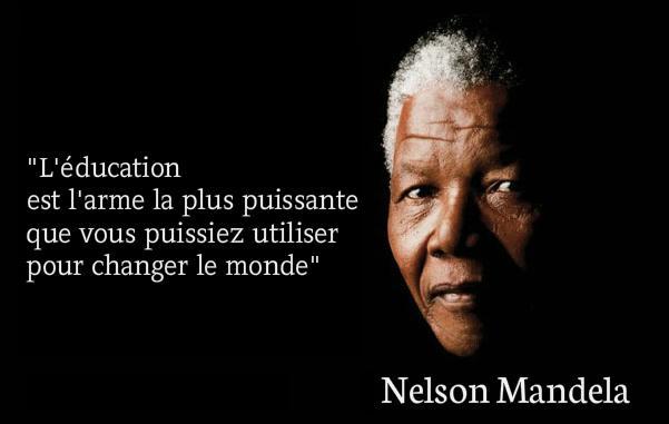 Resultado de imagen de l'éducation est l'arme la plus puissante pour changer le monde