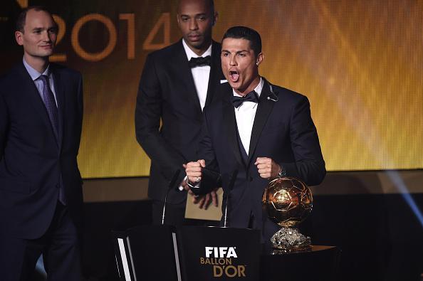L'urlo di Cristiano Ronaldo al Pallone d'oro 2014