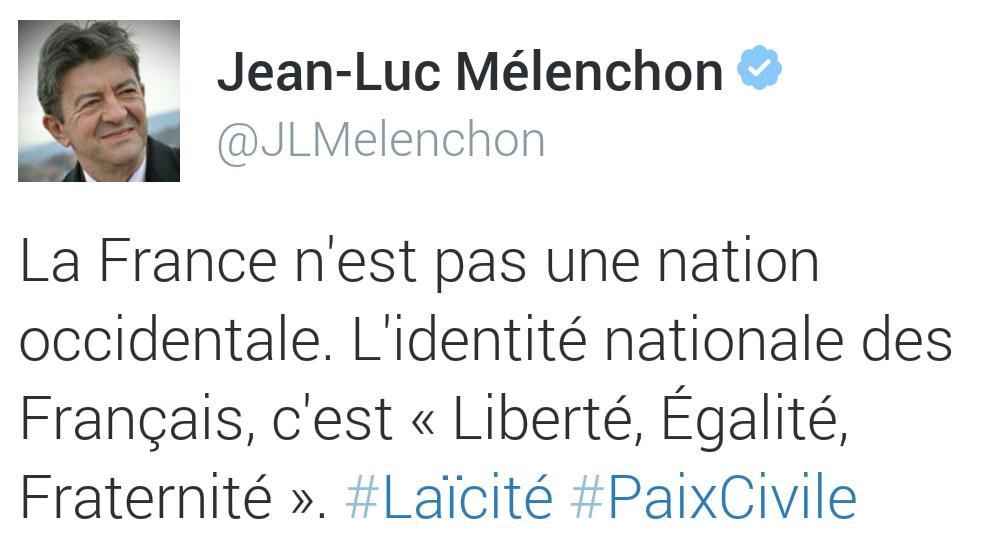 Image result for jean luc mélenchon liberte egalite et fraternite