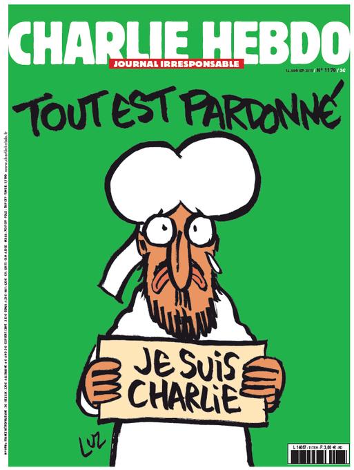 Mahomet en une du «Charlie Hebdo» de mercredi http://t.co/2JGWBH2Qpz http://t.co/1AzjFiFvmL