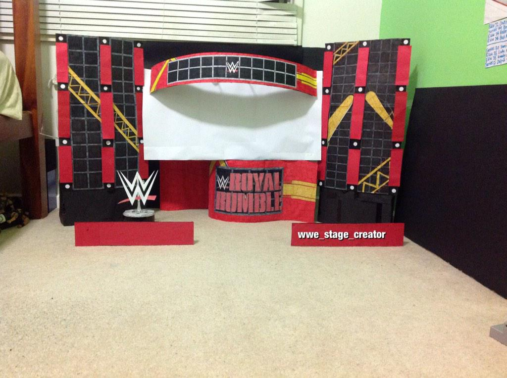 wwe stage creator on twitter quotmy royal rumble 2015 stage