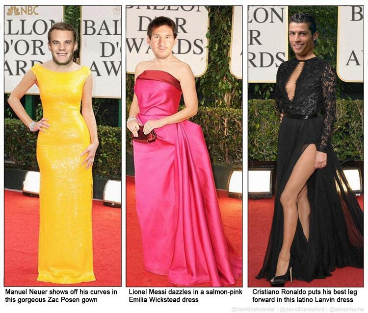 In case you missed them: great pictures from the red carpet at the Ballon d'Or. http://t.co/gCoje11DMv