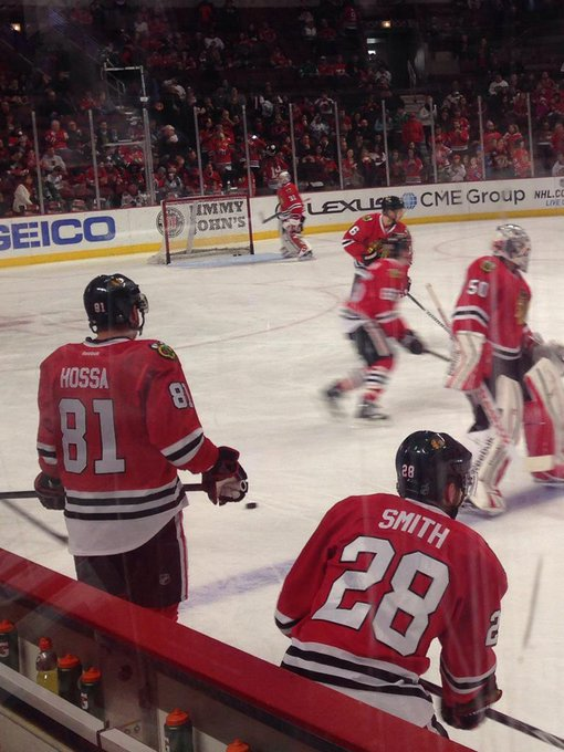 Marian Hossa gets to touch the Cup after two near misses ... |Marian Hossa Celebration