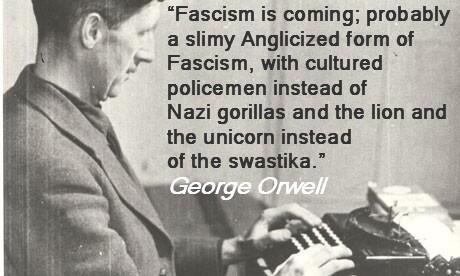 Image result for image of orwell on fascism