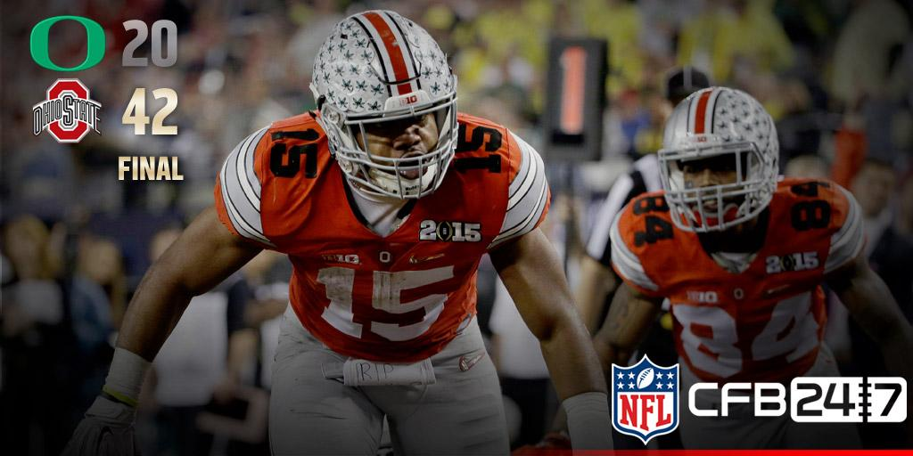 Ohio State Buckeyes = NATIONAL CHAMPS! #OREvsOSU http://t.co/2NkpUFeB9e