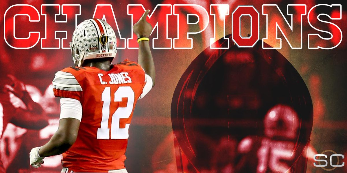 BUCKEYES WIN THE NATIONAL CHAMPIONSHIP! Ohio State beats Oregon, 42-20, for school's 1st title since 2002. http://t.co/xhazPTp49q