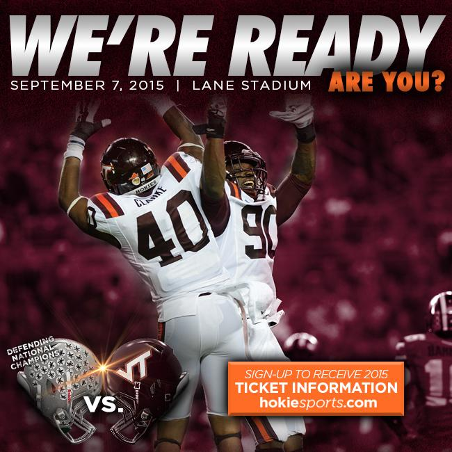 236 days until Blacksburg hosts the 2014 National Champs in the 2015 opener. 9/7/15  #Hokies #VTFB15 http://t.co/CZKe80SYHu