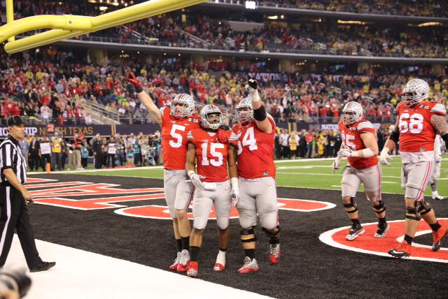 NATIONAL CHAMPS! Congrats to @OSUCoachMeyer and team! O-H! #GoBucks http://t.co/U6T2o0ZuQz
