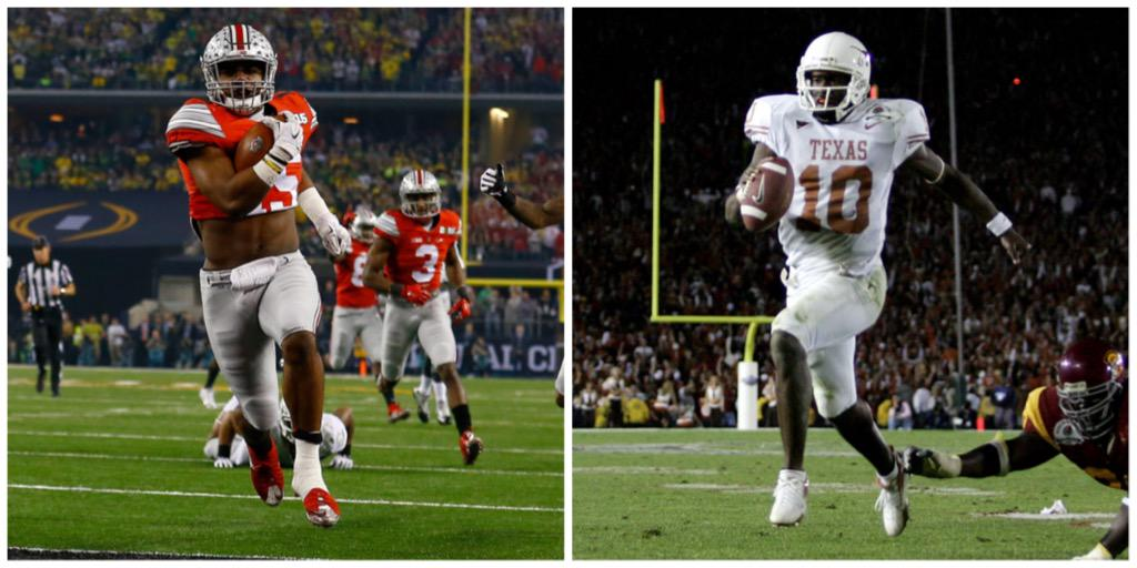 Ezekiel Elliott finishes w/ 246 Rush yds for Buckeyes, breaking Vince Young's record for most in a championship game. http://t.co/5TbtPc97fL