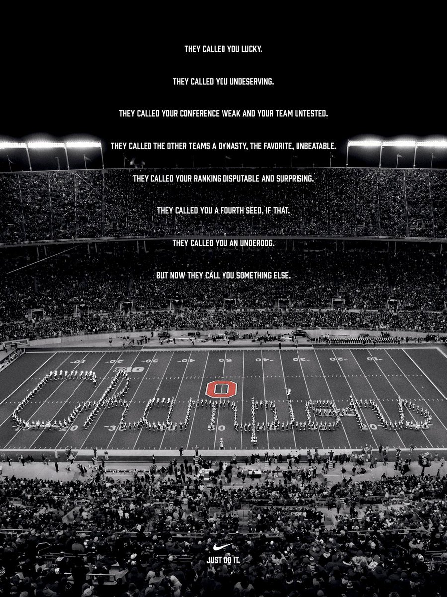 Nike salutes Ohio State's improbable win. http://t.co/pE9pXGyiFI