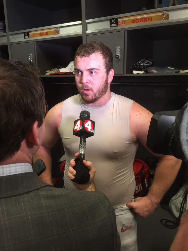 Jacoby Boren on QBs: Hats off to those guys. That's almost unheard of a 3rd string QB winning a nat'l championship. http://t.co/0JfqzXZQKy