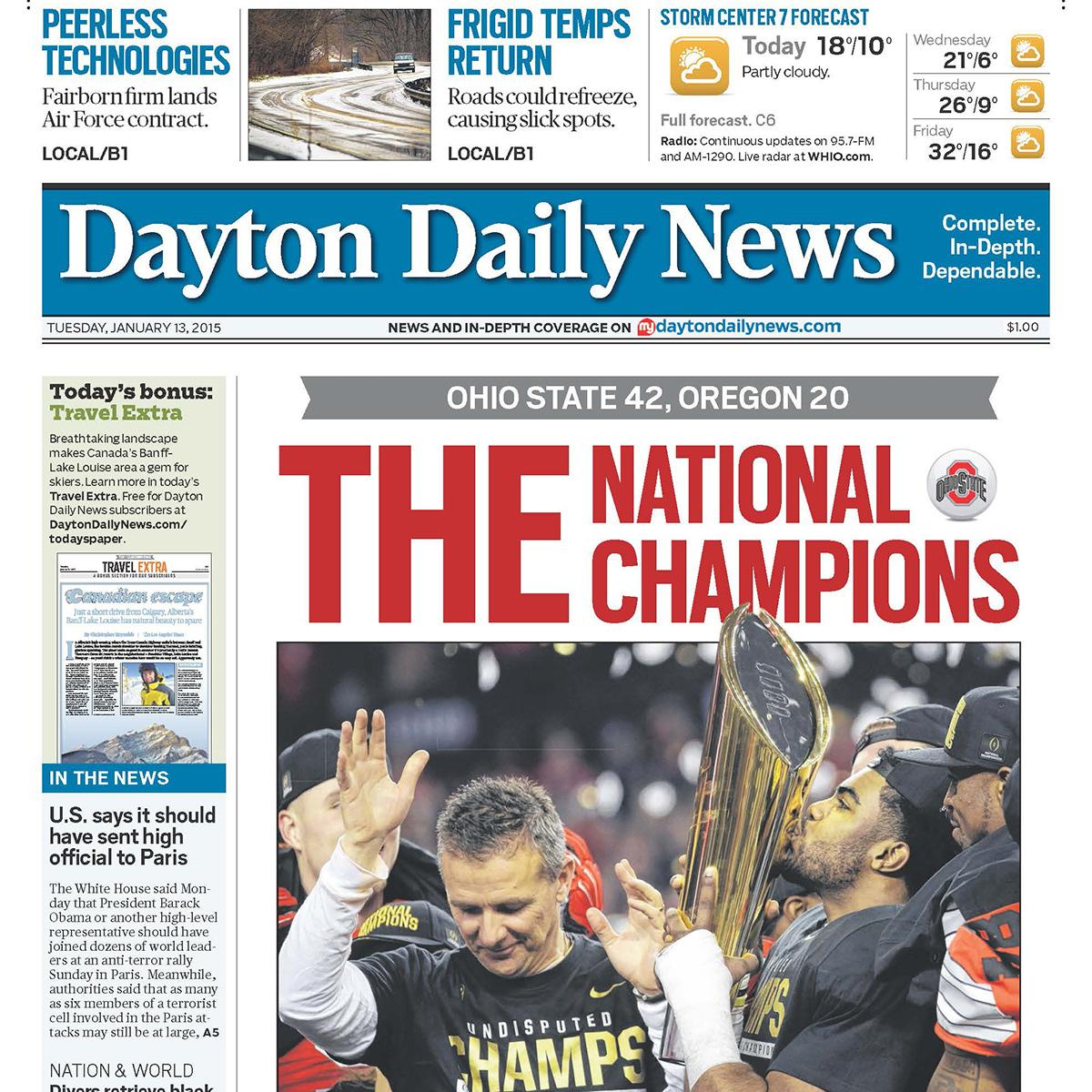 This morning's paper is a MUST READ for any @OhioStAthletics fan! Get your posters & papers at http://t.co/okWDA1jy9P http://t.co/MLKlMsxTzJ