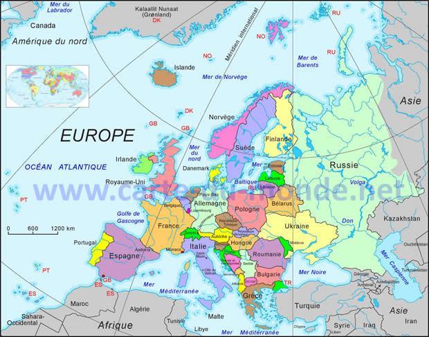 Carte Europe Km.Carte Du Monde On Twitter Carte De L Europe Http T Co