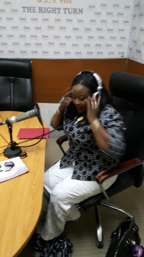 Cecilia of #NigerianTelevisionAuthority in studios of #radioXYZ93.1fm @africainfocus14  @KojoAbroba  @wacsi http://t.co/DKMk3SCNyF