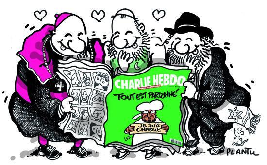CHARLIE. Le dessin à la Une du Monde de ce mardi 13 janvier. http://t.co/UeHIUzNDfh