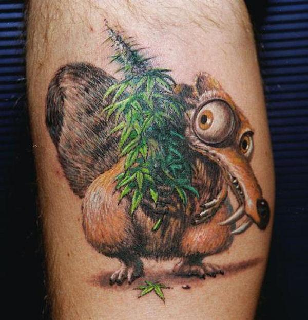 Ice Age Squirrel Tattoo