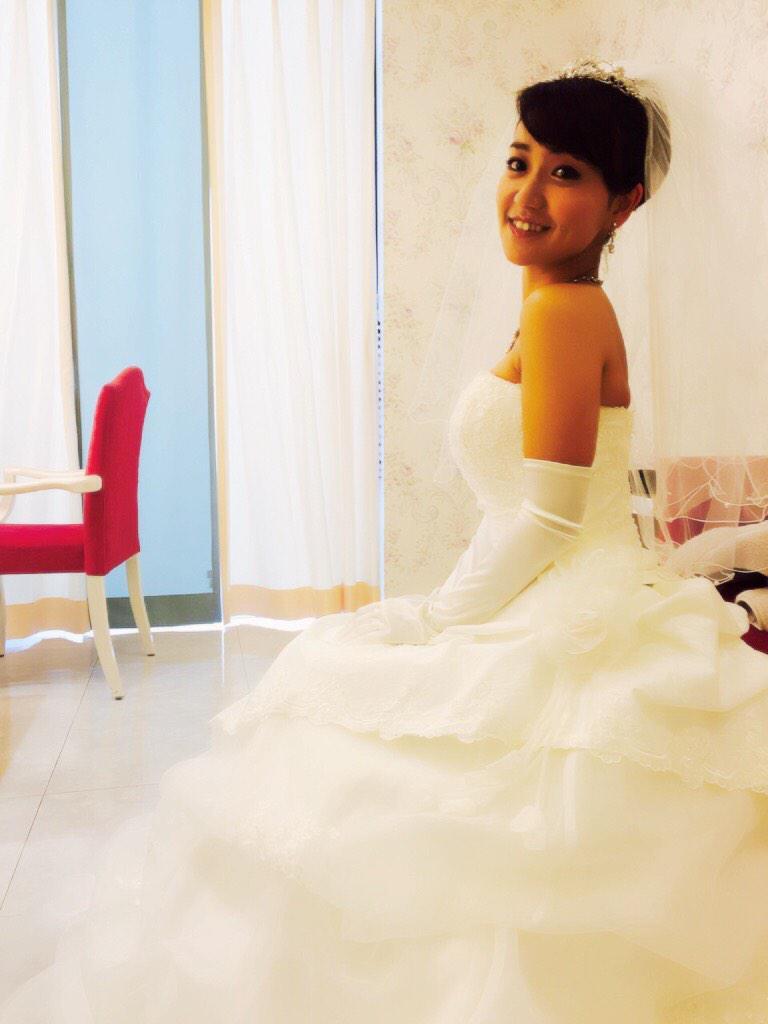 ウエディングドレスが可愛い大島優子