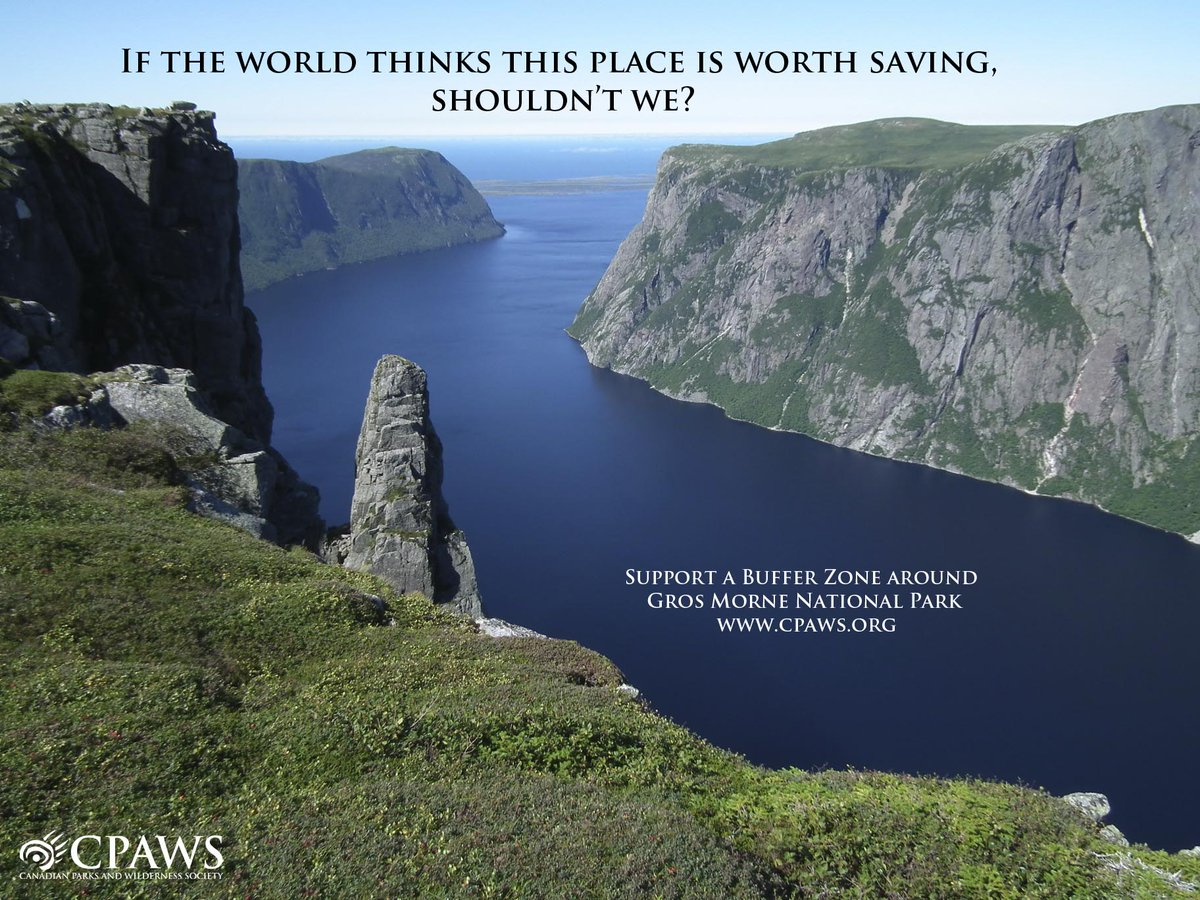 Gros Morne National Park deserves to be protected from industrial activity. http://t.co/G1SGzz9n2R http://t.co/cr5NwBmtcr