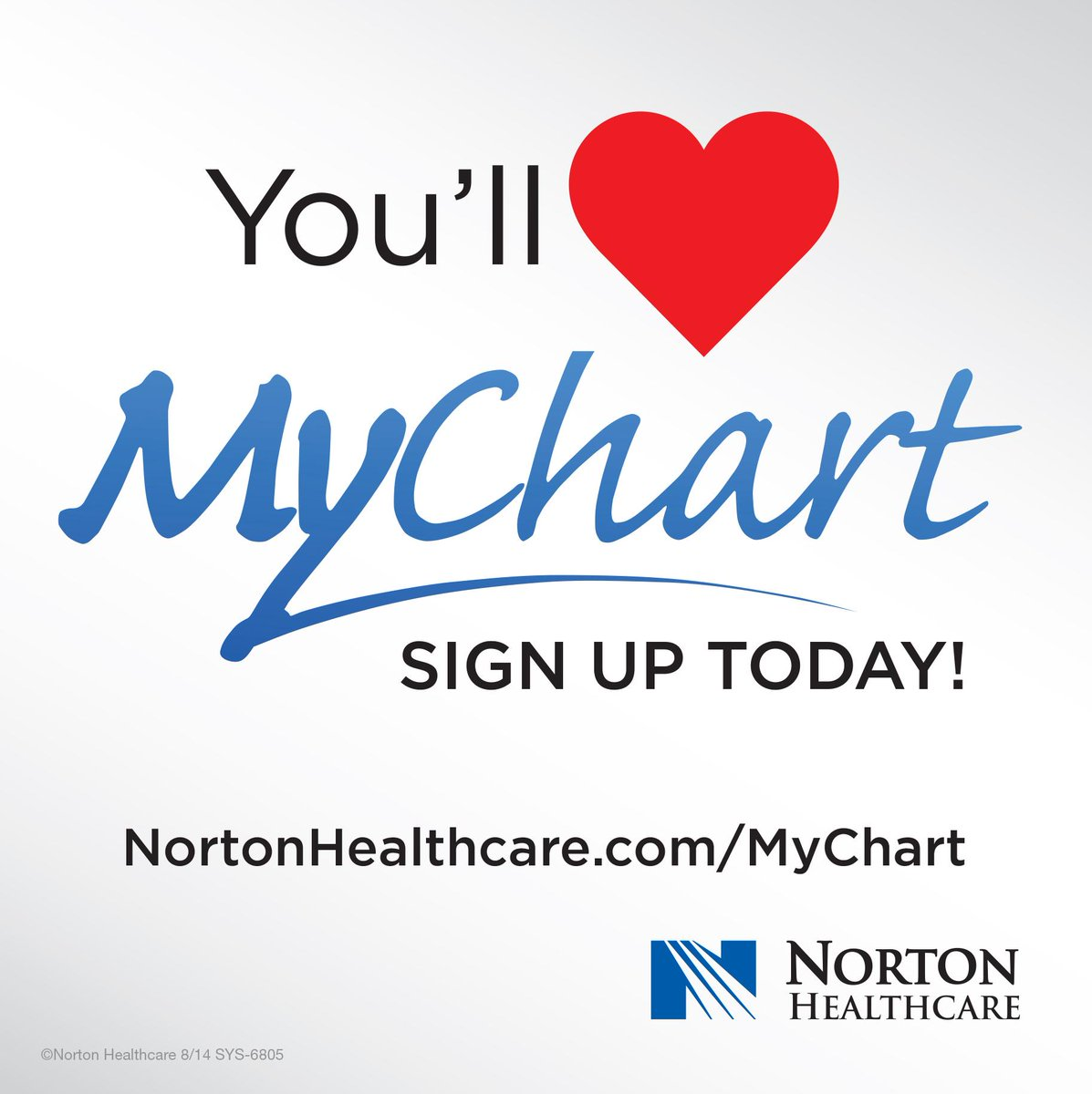 Norton healthcare on twitter signed up for mychart view test