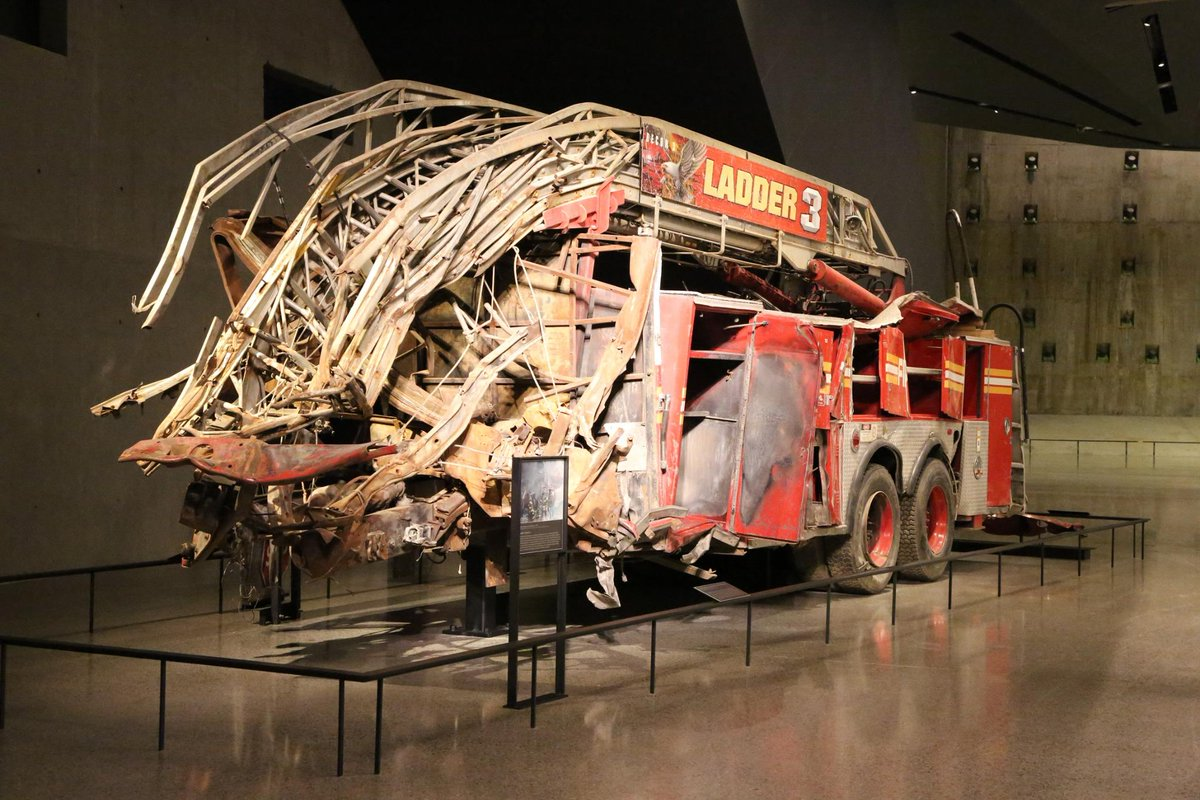 MT @Sept11Memorial @FDNY Ladder 3 in the #911Museum depicts the courage of 9/11 1st responders http://t.co/X32UsfT4Xt http://t.co/Pt2qQAjKEf