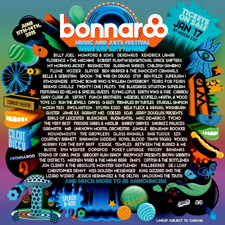Couldn't be more excited to play @Bonnaroo 2015!!! Tickets go on-sale Saturday at Noon EST. http://t.co/jVuRWZrGvn