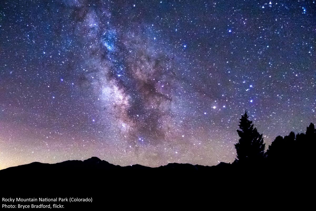 Wilderness Society Tweeted: Starry sky from near Beaver Meadows in Rocky Mountain National Park. Photo by Bryce Bradford
