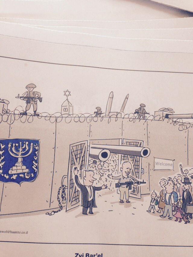 L'immigration de France vue par le caricaturiste de Haaretz http://t.co/oXWbifrk0n