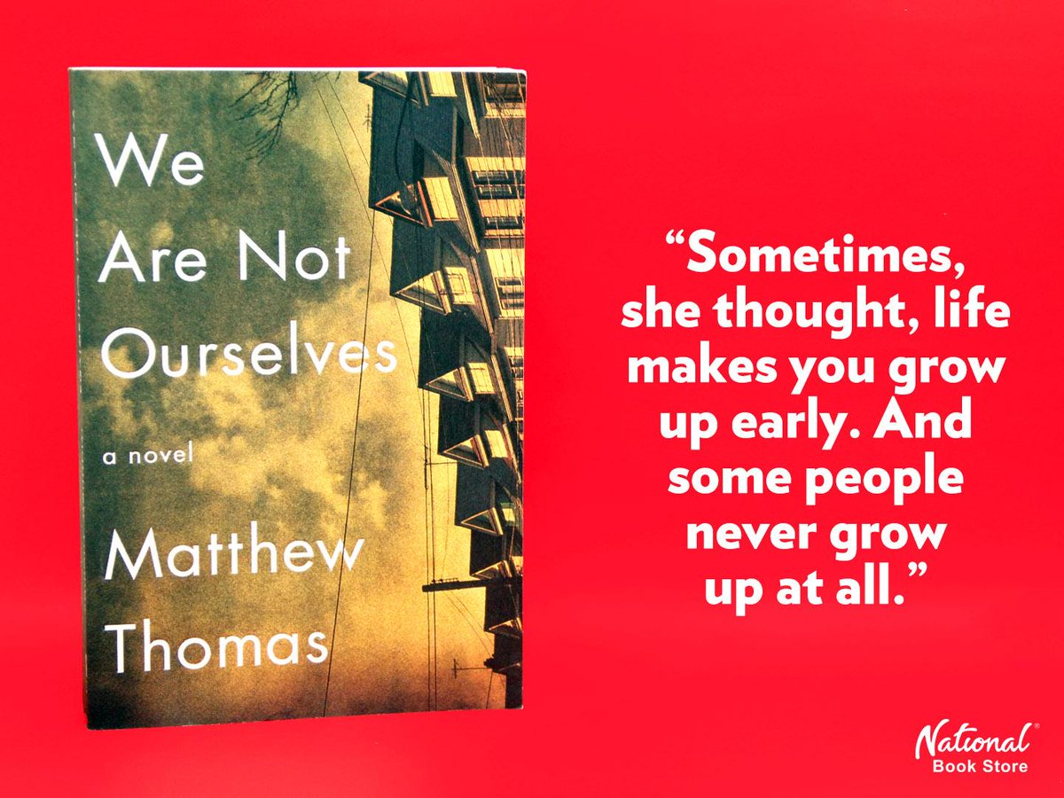 """National Book Store on Twitter: """"#NBSfinds WE ARE NOT OURSELVES: A NOVEL by Matthew  Thomas (Trade Paperback - P699). http://t.co/8x2Jru5KNM"""""""