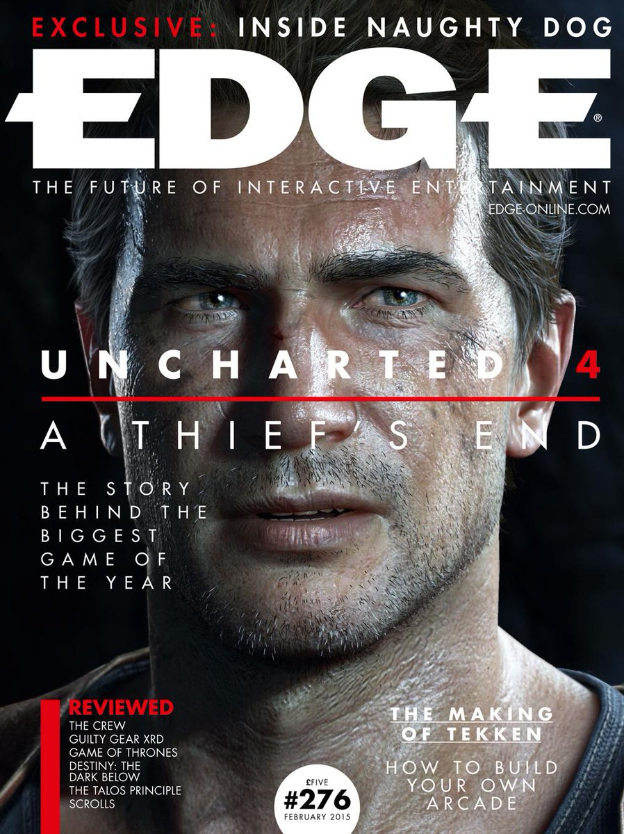 Our new issue is out tomorrow, featuring Uncharted 4: A Thief's End. Here's a look at the cover: http://t.co/l85g3haxIN