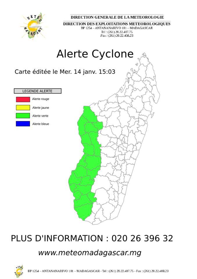 Carte Verte Madagascar.Safidy Ratsimba On Twitter Rt Cycloneoi Alerte Cyclone