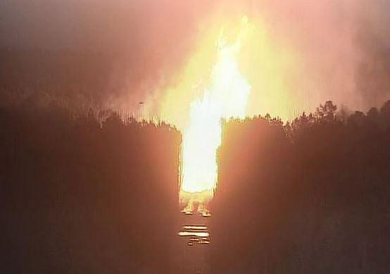 Gas pipeline explodes