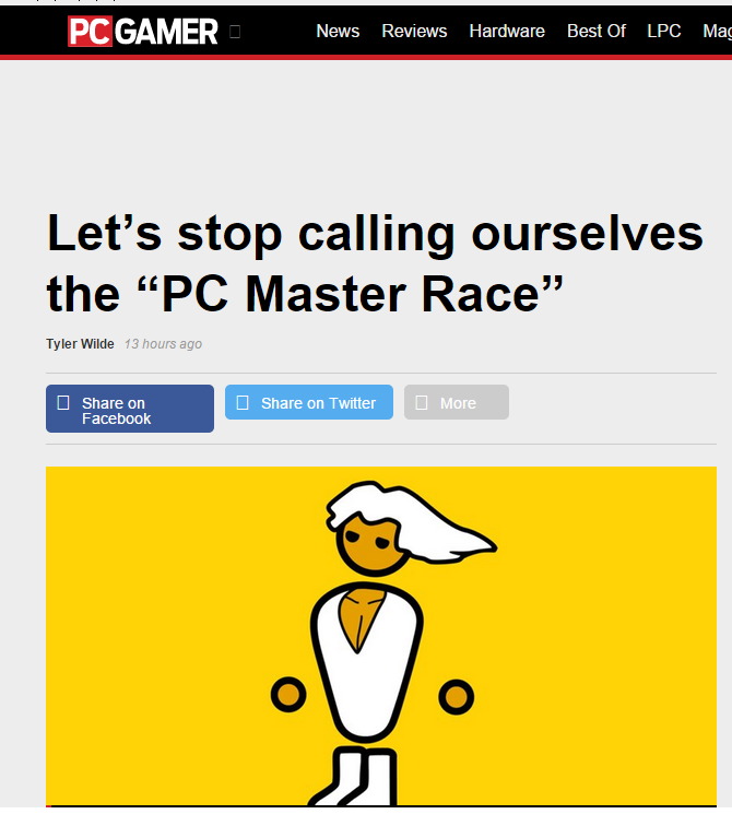 Where were you when @pcgamer jumped the shark?  Was a subscriber, glad I'm not anymore https://t.co/g9NvMYwTTs http://t.co/iLeyhevYmY