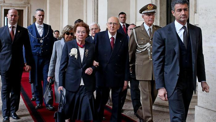 Il Presidente Giorgio Napolitano si e' dimesso, torna a casa