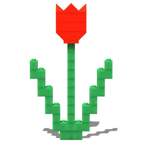 Hyo Ahn On Twitter How To Make A Simple Lego Tulip With Two