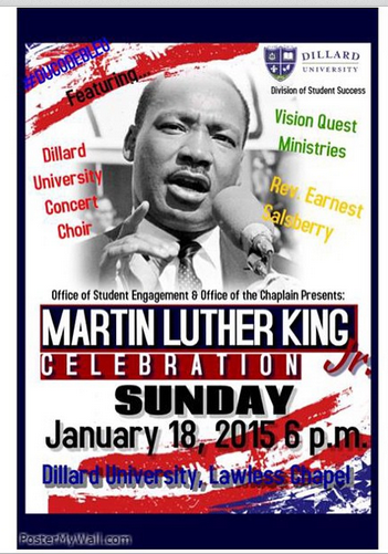 Rev. Salsberry has a special service planned to celebrate Dr. King's holiday! Don't miss out Sunday at 6 pm. http://t.co/SOE2R3ULFT