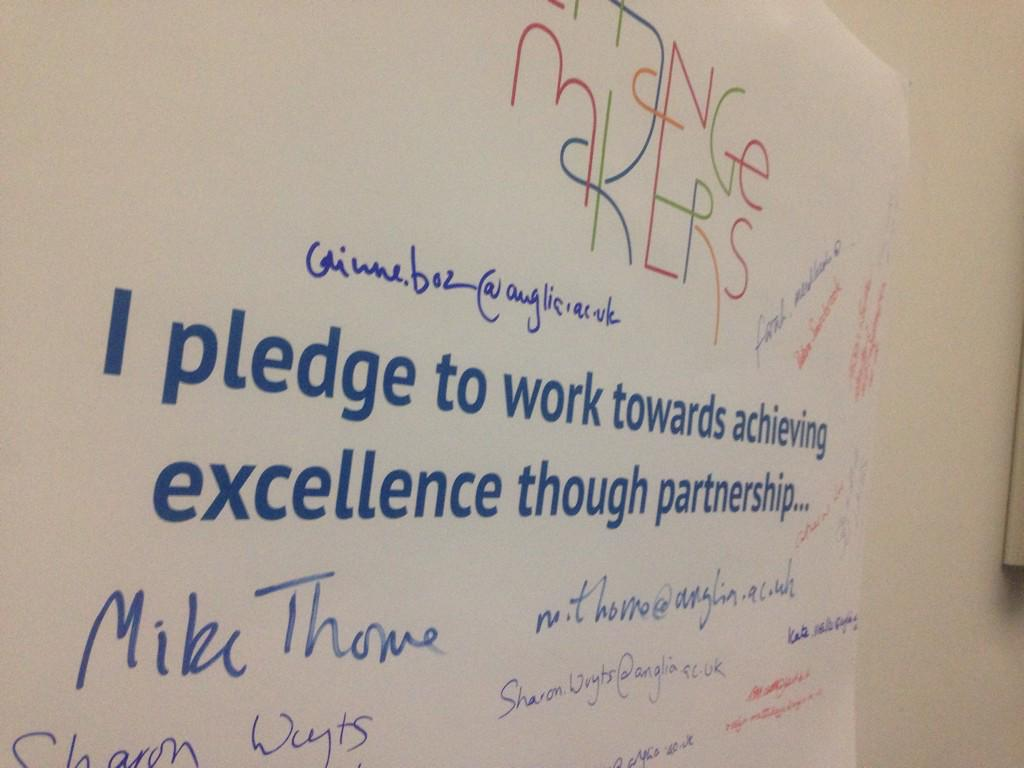 Sign our partnership pledge - our Vice Chancellor was first to do so... #vcconf http://t.co/yzwnVMbJha