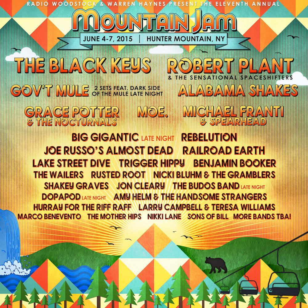 Mountain Jam Music Festival Hunter Mountain NY 2015