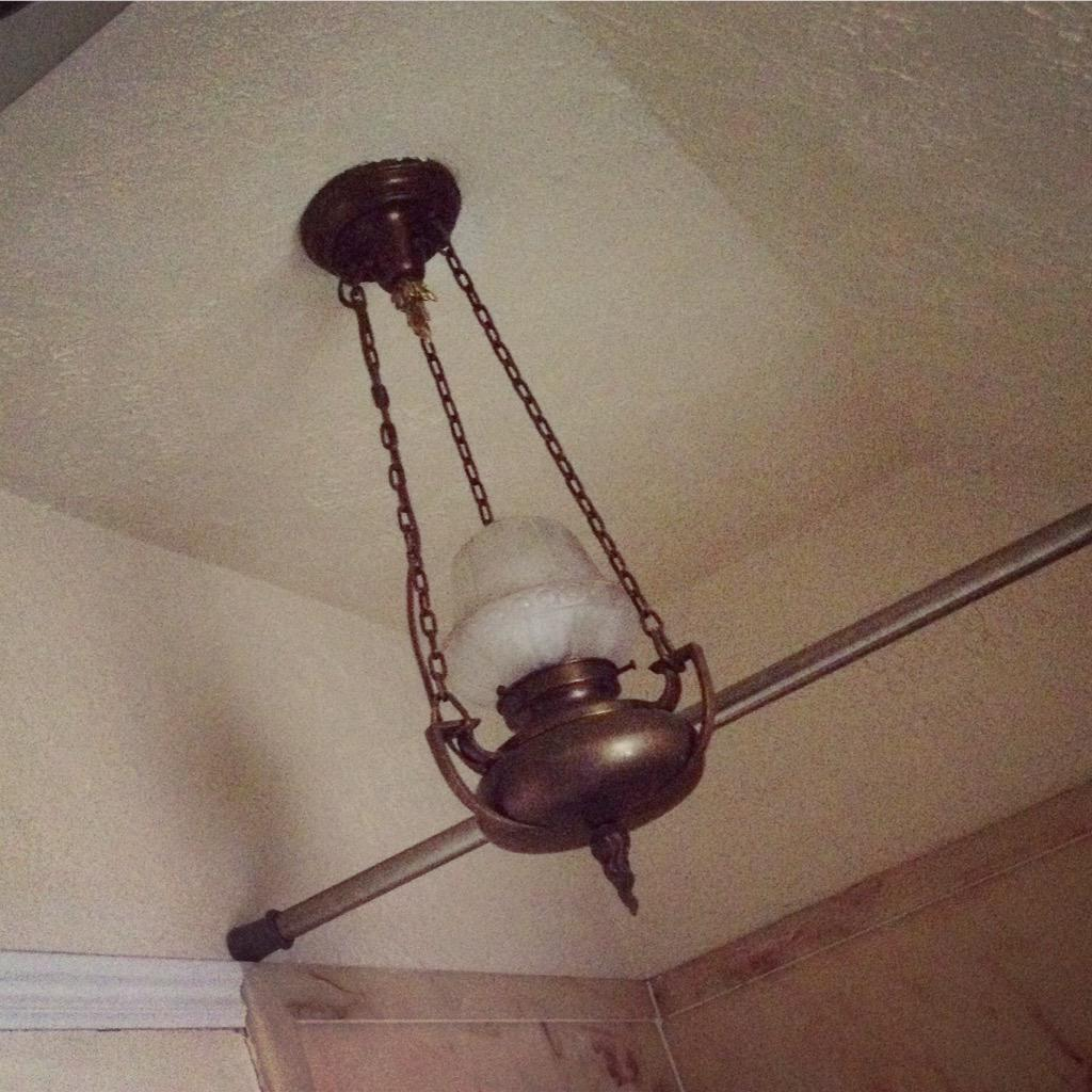 125 year old light fixture