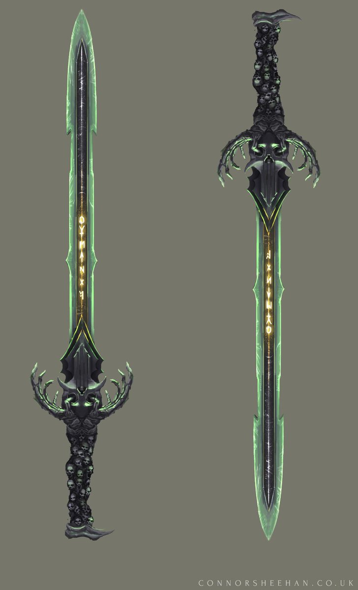 Connor Sheehan On Twitter Weapon Concept Art Conceptart Gameart Sword Weapon Fantasy Spooky Skulls Illustration Http T Co Bzwodp2plk