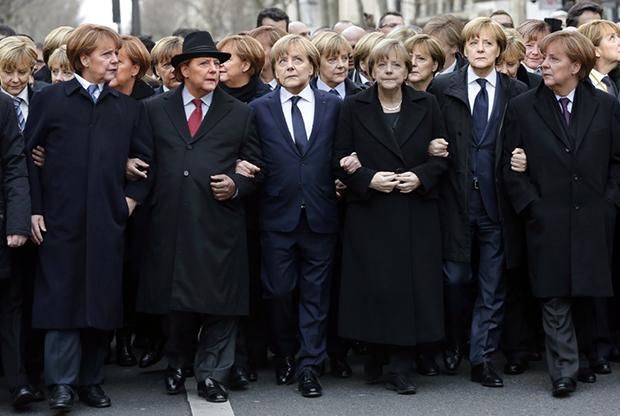 So, we put Angela Merkel back in the picture. http://t.co/CwQGBhLeI6 #MillionMerkelMarch http://t.co/DI4Req2hWy