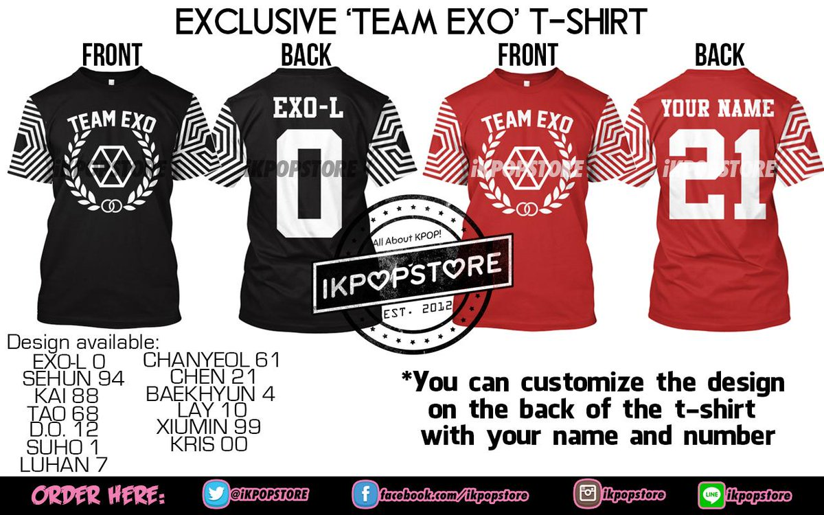 Ikpop Store On Twitter Order Exclusive Team Exo T Shirt