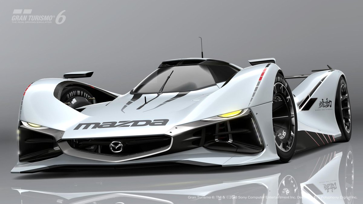 Take a look at the new #Mazda LM55 Vision Gran Turismo developed for Gran Turismo 6! Does it remind you of anything? http://t.co/rFORZx2Lpd