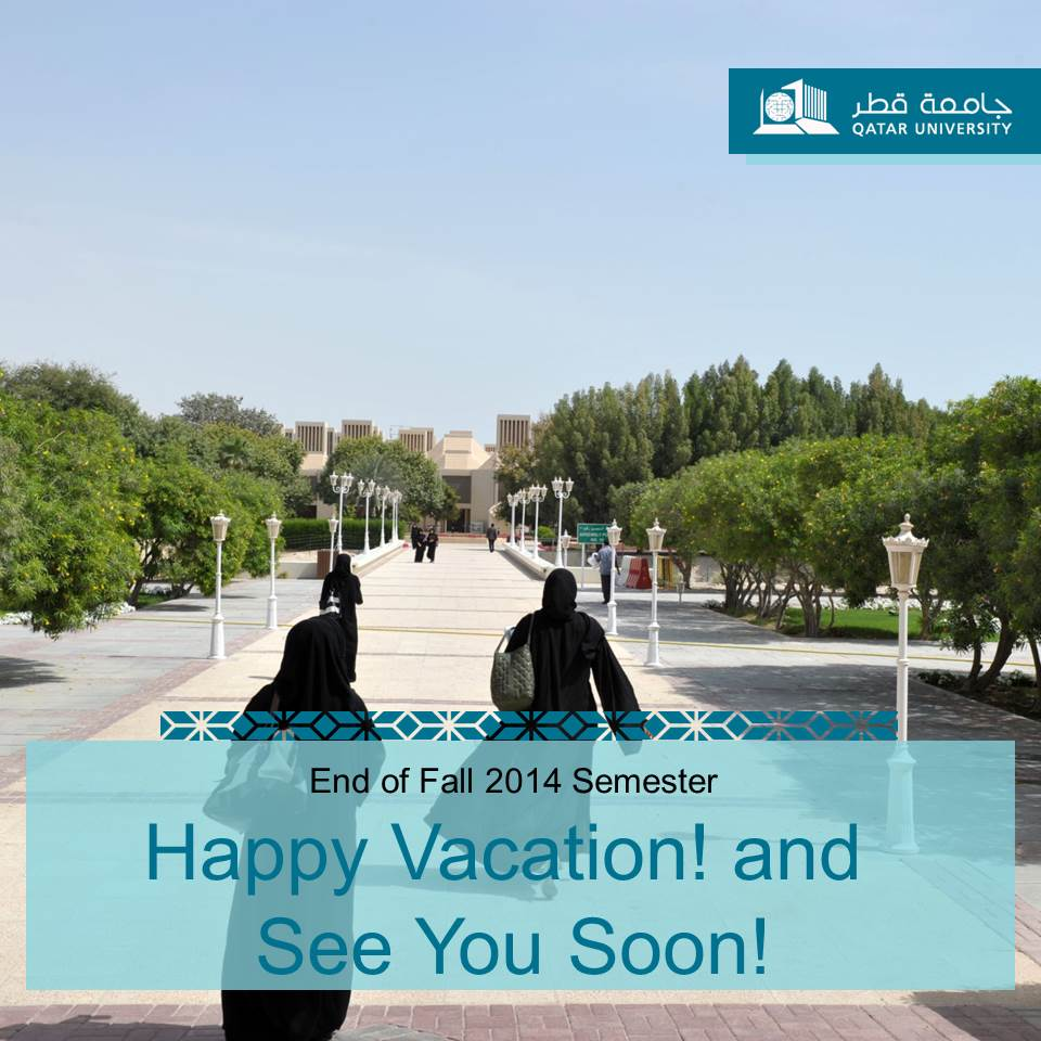 On Twitter As The Fall 2014 Semester Has Come To An End We Wish You A Happy Vacation Our Dear QU Students Tco GTpvMSokxO