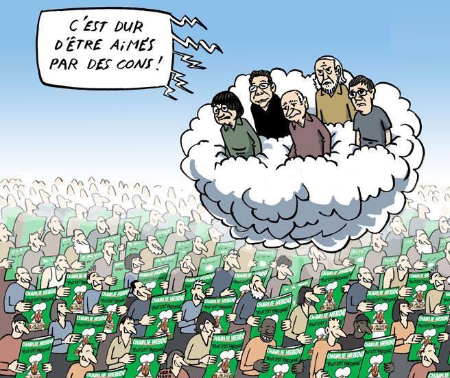 boris tampigny on twitter excellent dessin du courrierinter cest dur dtre aim par des cons charliehebdo httptcokwsewpltp6