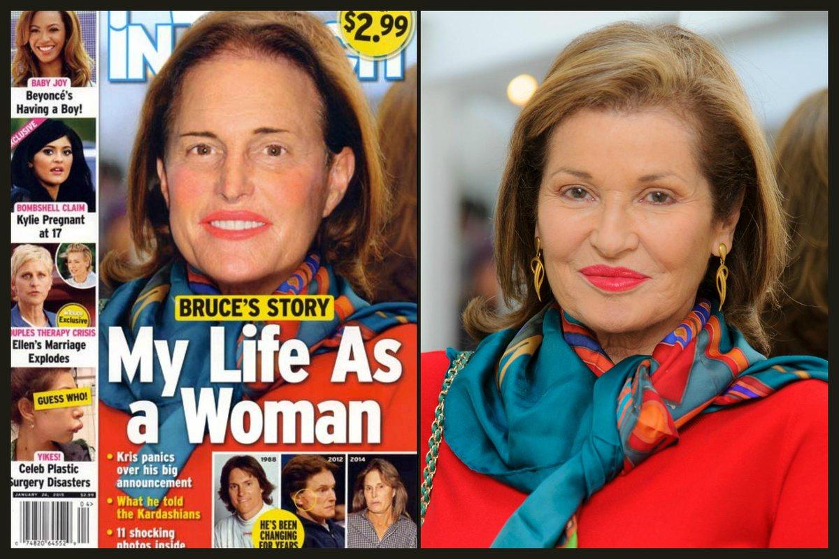 Bruce Jenner capa da revista maquiada
