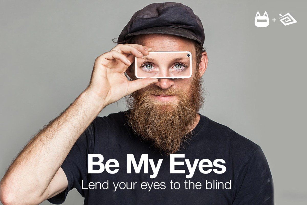 Lend your eyes to the blind.  Proud to announce our collaborative non-profit app Be My Eyes http://t.co/JTXHTHxdRk http://t.co/Dh7qmyaBoN