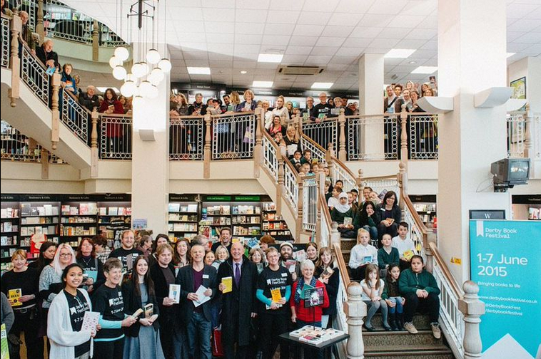 Retweet if you can see yourself in this great photo from the Derby Book Festival launch!