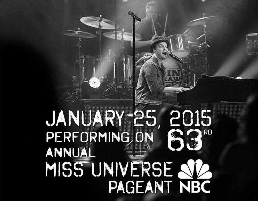 Gavin will be playing live on #MissUniverse Pageant which airs this Sunday at 8pm EST on NBC! http://t.co/j6rFPebrAy