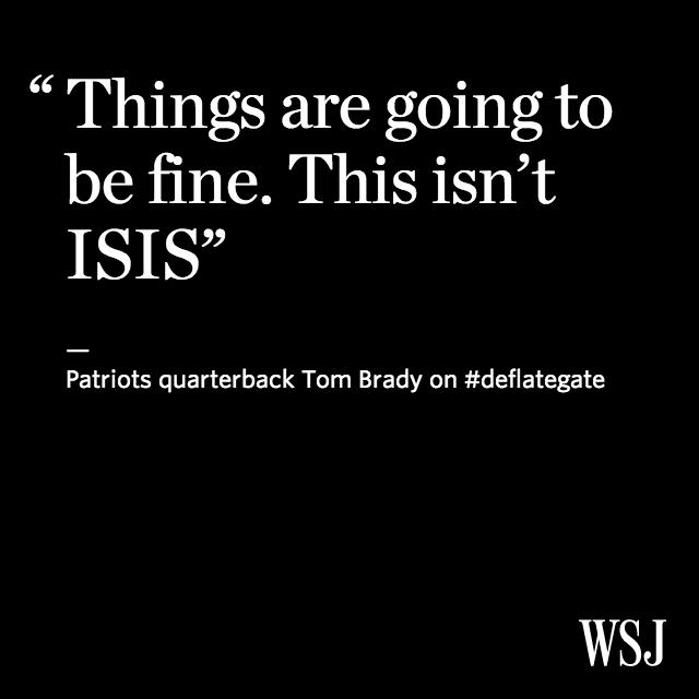 Tom Brady denies deflating balls on Sunday: http://t.co/bzEfFodAhe http://t.co/NiLzjyhk8M